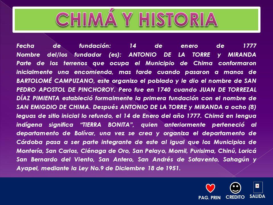 CHIMÁ Y HISTORIA