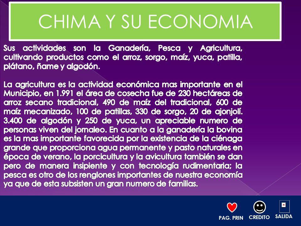 CHIMA Y SU ECONOMIA
