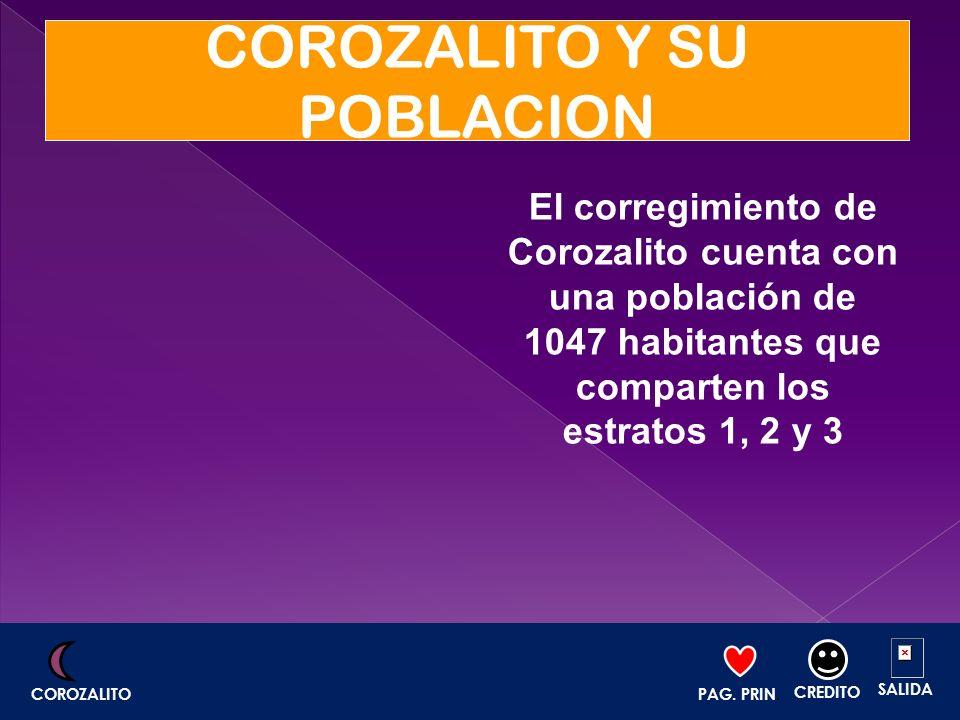 COROZALITO Y SU POBLACION