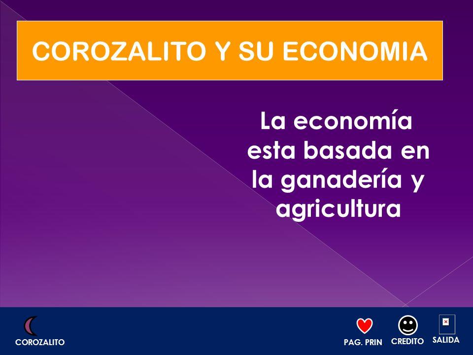 La economía esta basada en la ganadería y agricultura