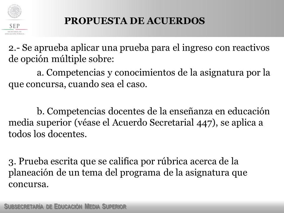 PROPUESTA DE ACUERDOS