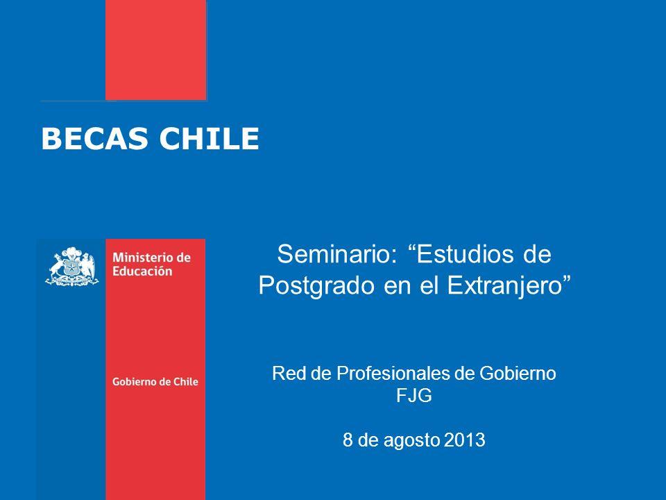 BECAS CHILE Seminario: Estudios de Postgrado en el Extranjero
