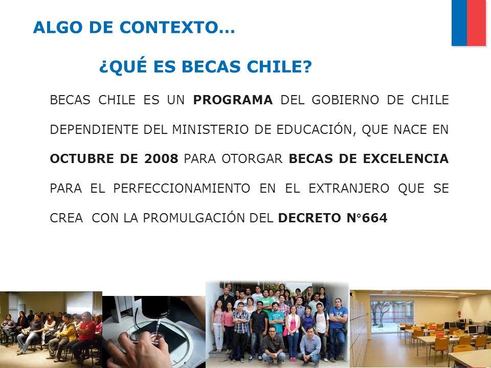 ALGO DE CONTEXTO… ¿QUÉ ES BECAS CHILE