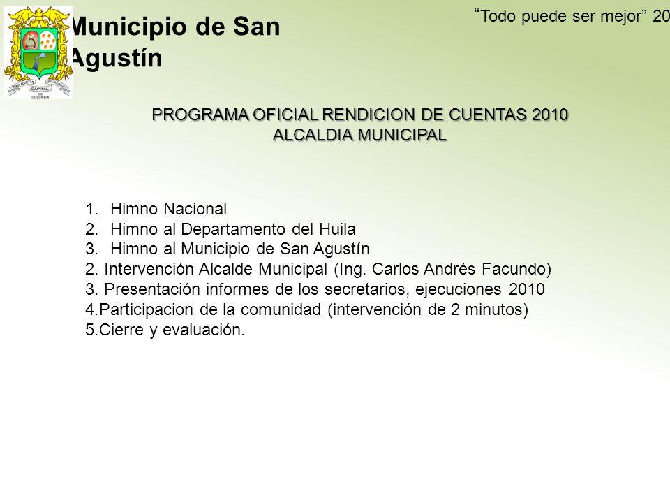PROGRAMA OFICIAL RENDICION DE CUENTAS 2010