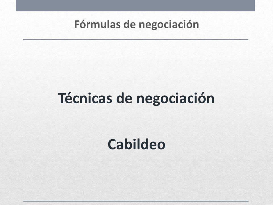 Fórmulas de negociación