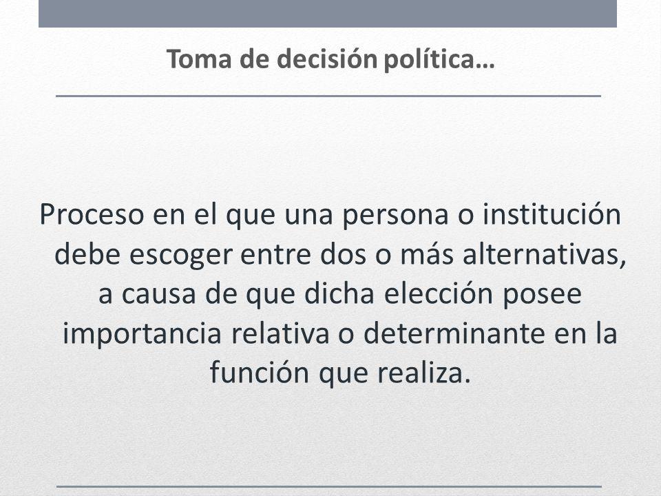 Toma de decisión política…