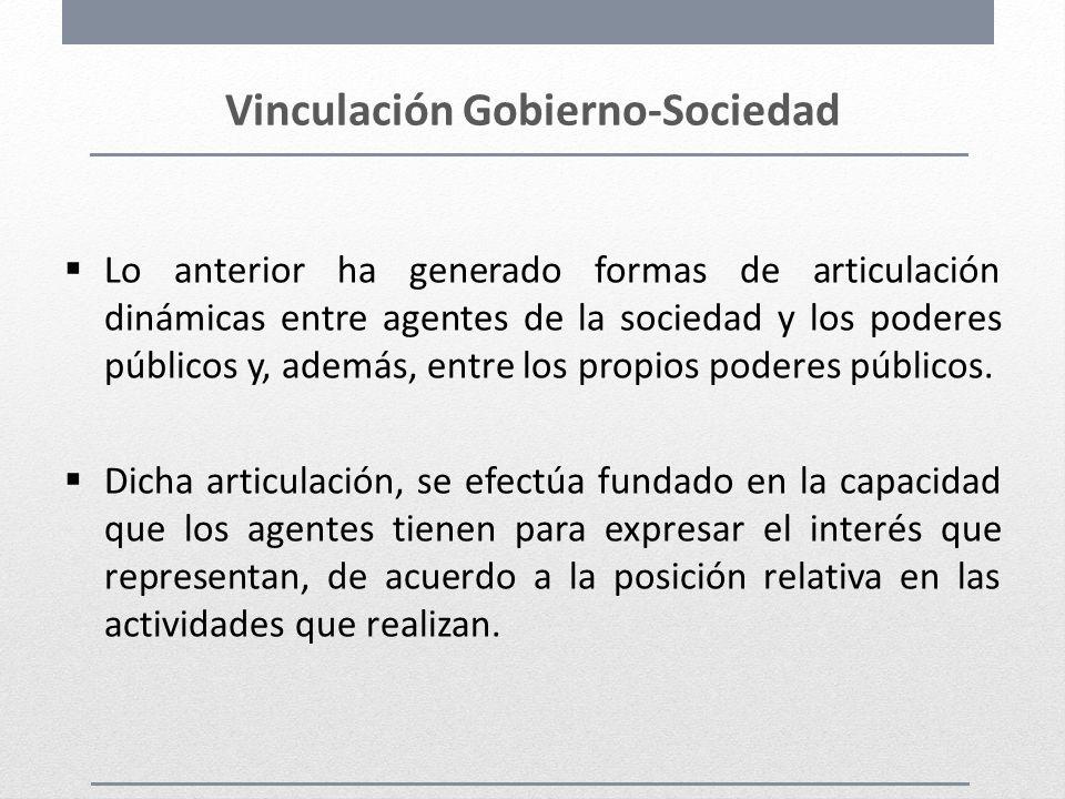 Vinculación Gobierno-Sociedad