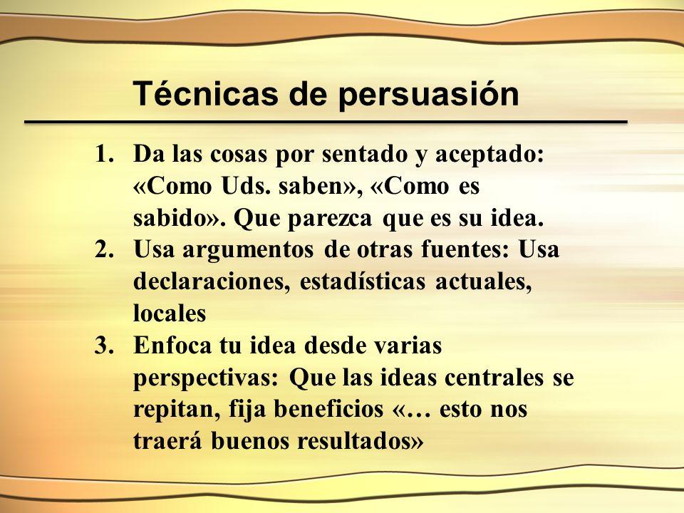 Técnicas de persuasión