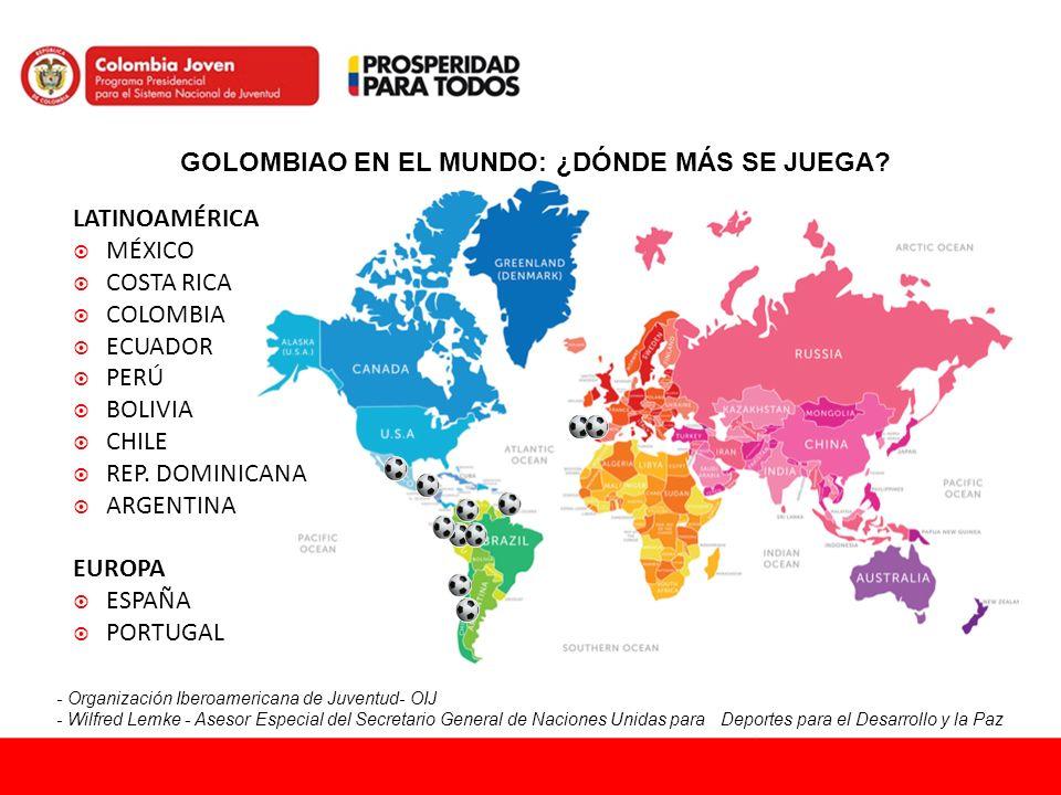 GOLOMBIAO EN EL MUNDO: ¿DÓNDE MÁS SE JUEGA