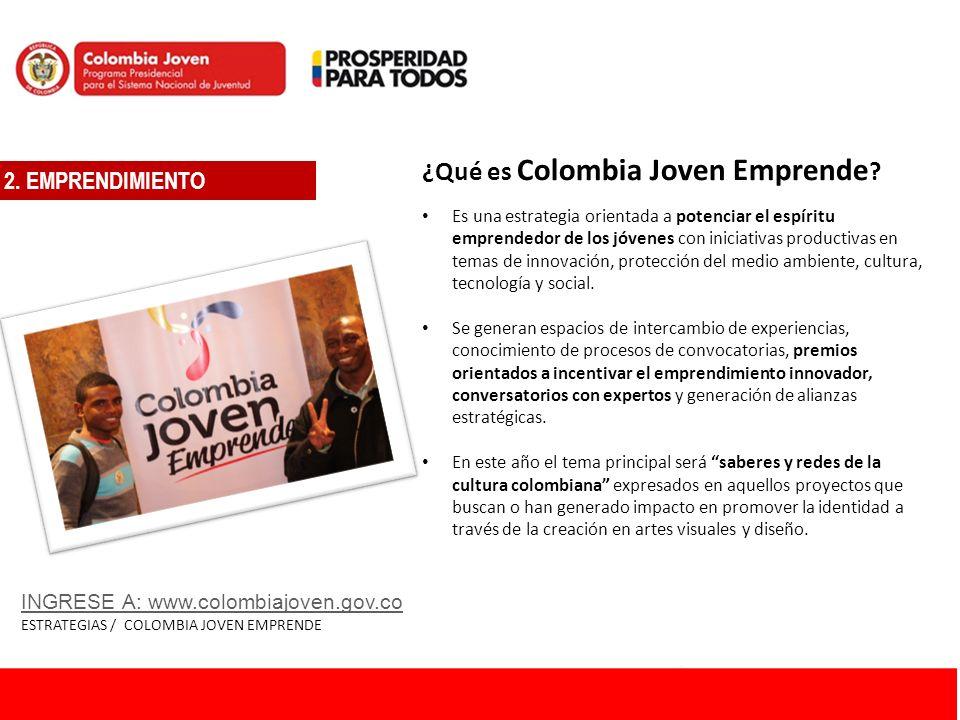 ¿Qué es Colombia Joven Emprende