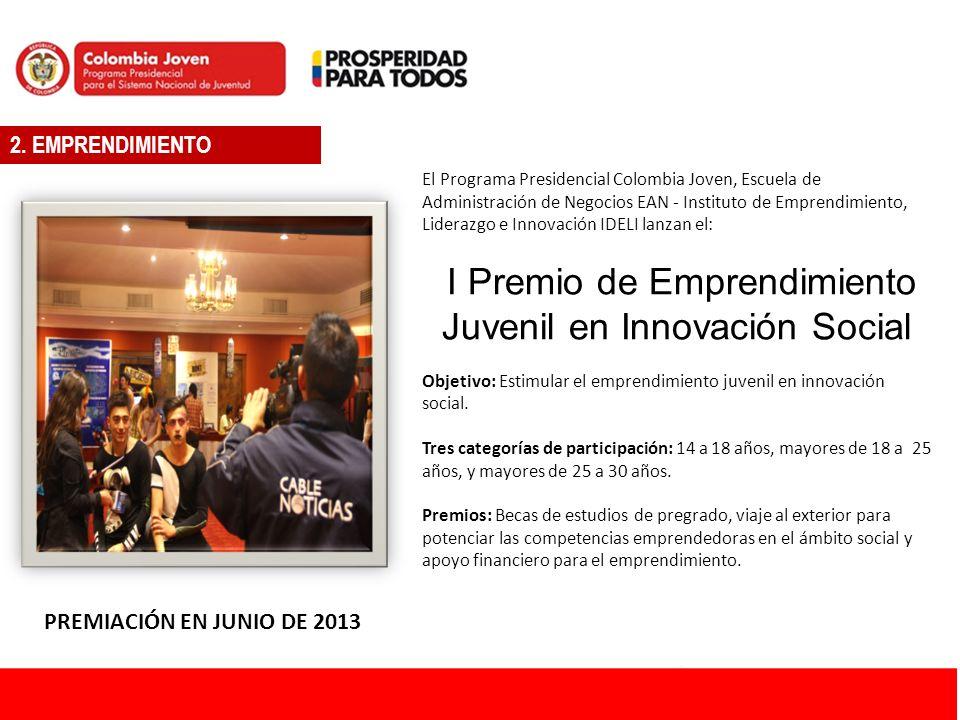 I Premio de Emprendimiento Juvenil en Innovación Social