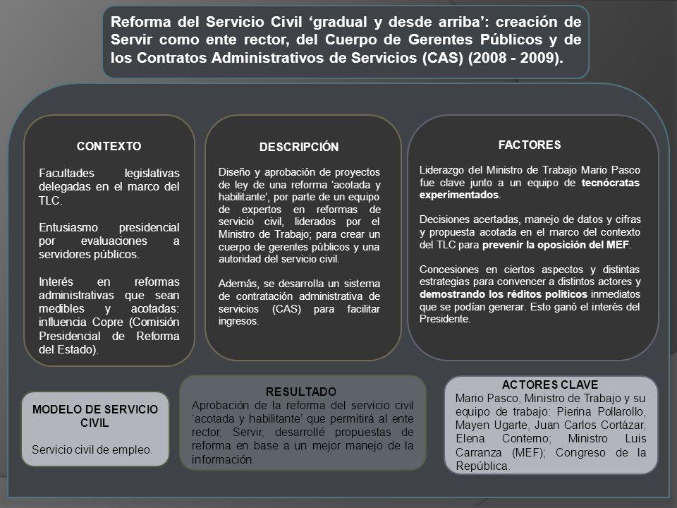 MODELO DE SERVICIO CIVIL