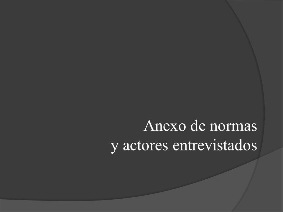 Anexo de normas y actores entrevistados
