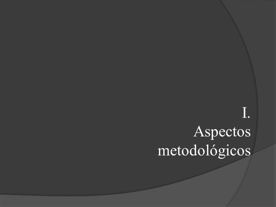 I. Aspectos metodológicos