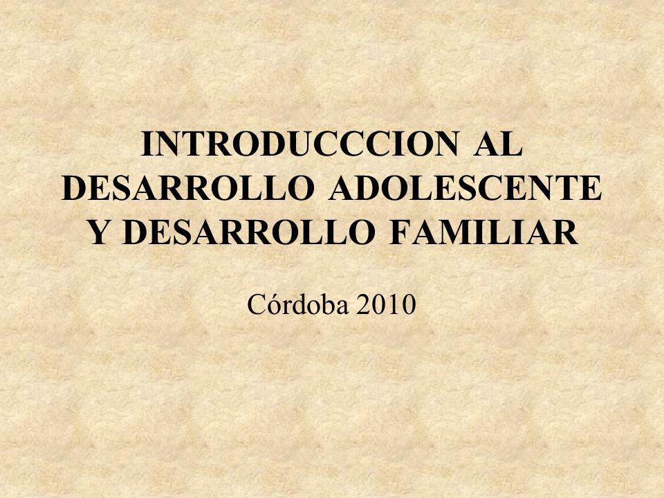 INTRODUCCCION AL DESARROLLO ADOLESCENTE Y DESARROLLO FAMILIAR
