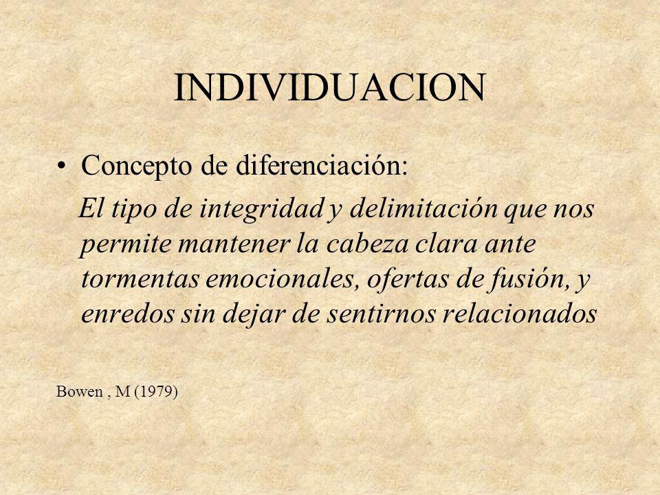 INDIVIDUACION Concepto de diferenciación: