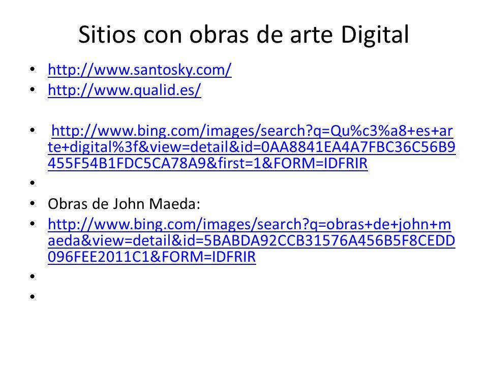Sitios con obras de arte Digital