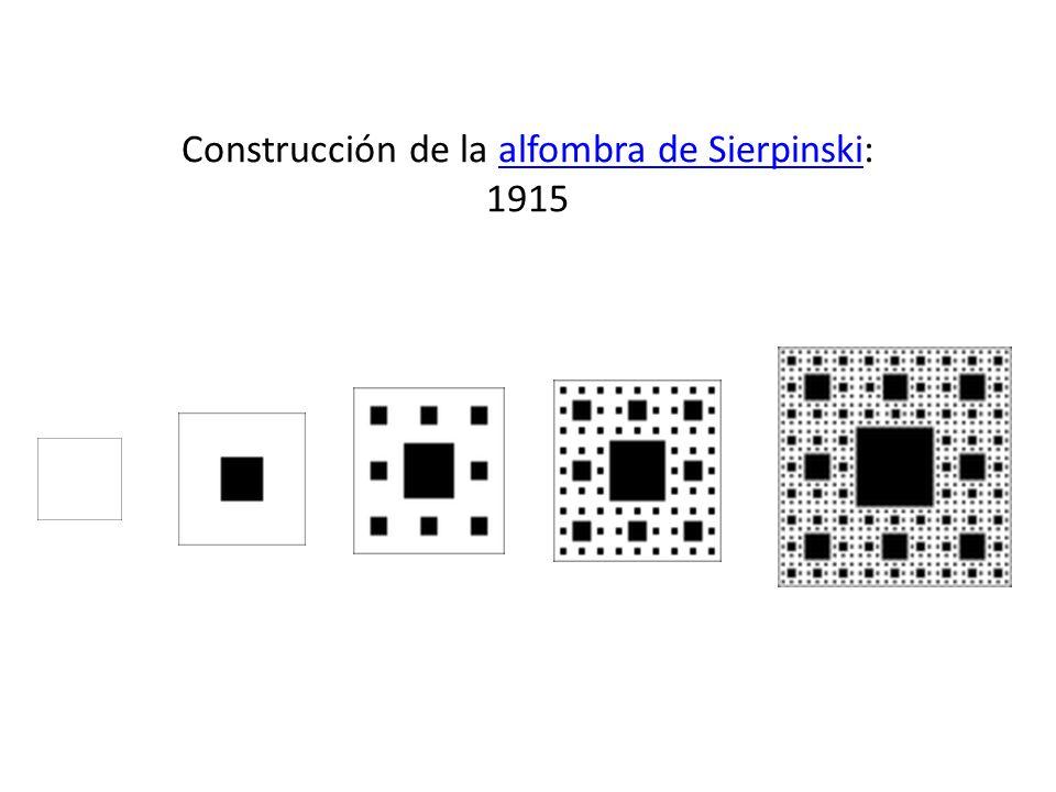 Construcción de la alfombra de Sierpinski: 1915