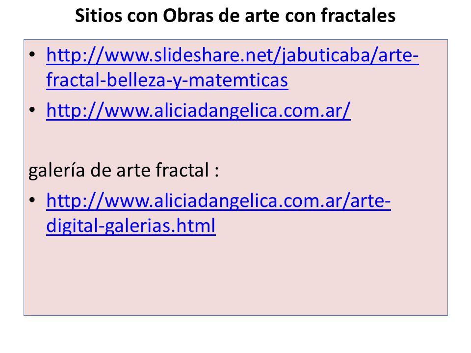 Sitios con Obras de arte con fractales