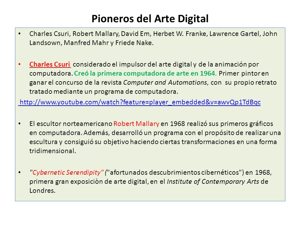 Pioneros del Arte Digital
