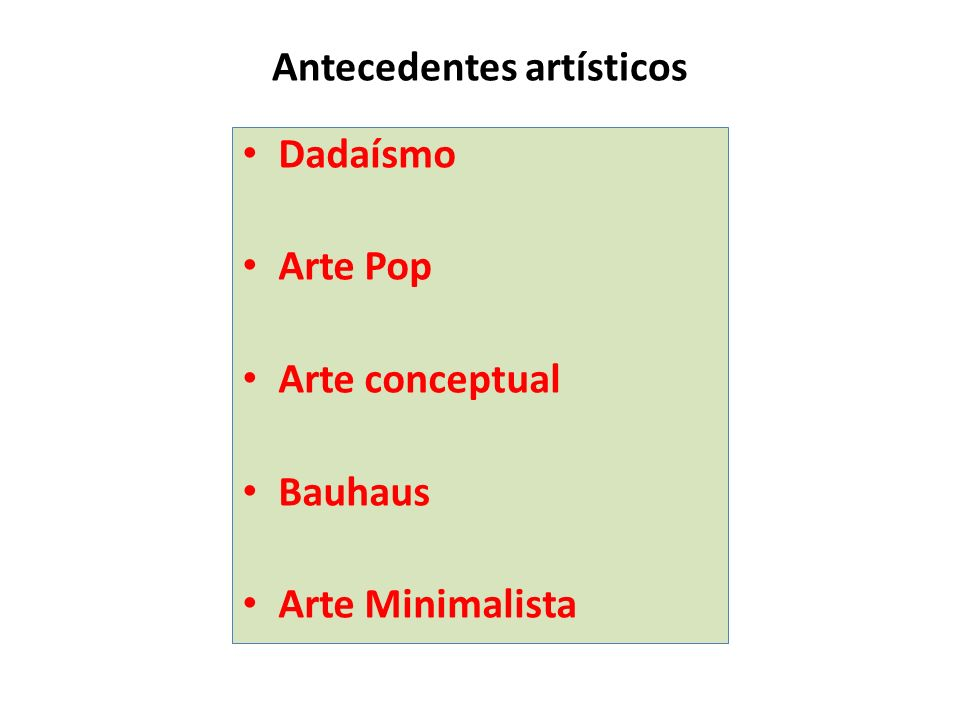 Antecedentes artísticos