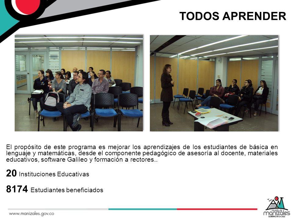 TODOS APRENDER 20 Instituciones Educativas