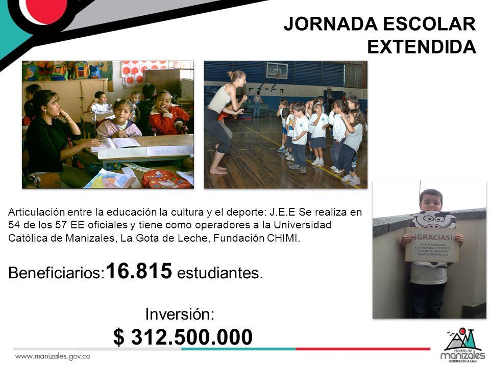 $ 312.500.000 JORNADA ESCOLAR EXTENDIDA