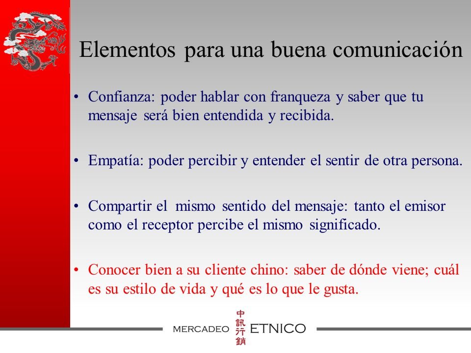 Elementos para una buena comunicación