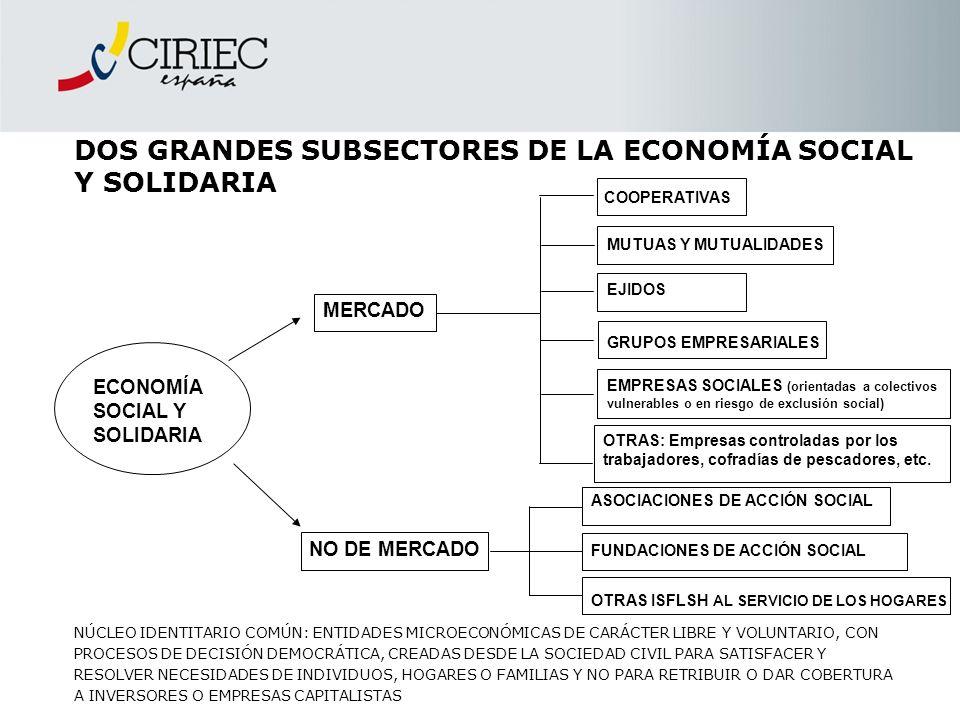 DOS GRANDES SUBSECTORES DE LA ECONOMÍA SOCIAL Y SOLIDARIA