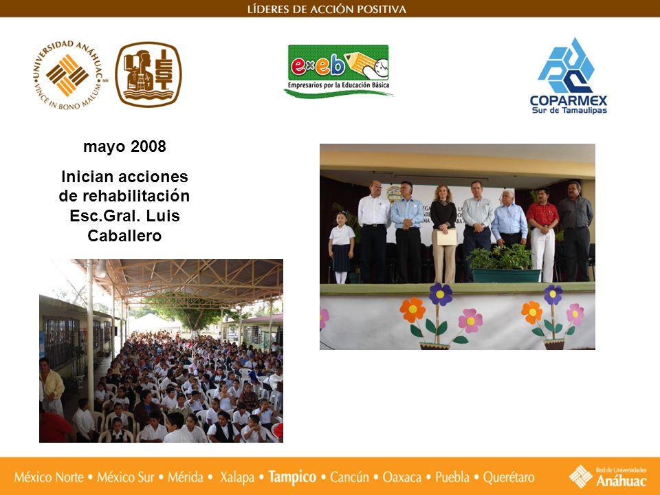Inician acciones de rehabilitación Esc.Gral. Luis Caballero