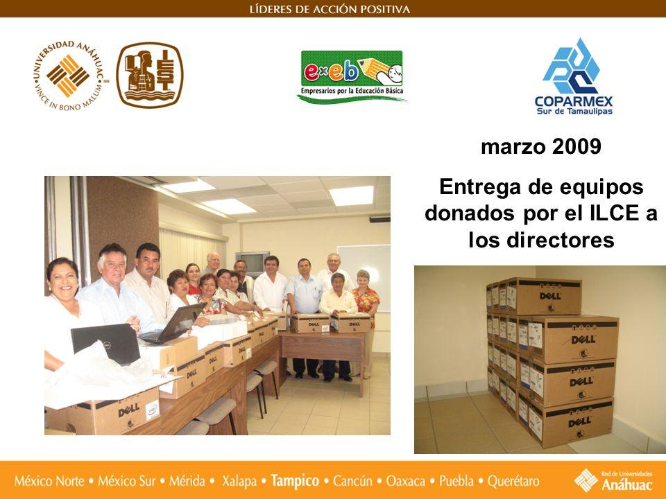 Entrega de equipos donados por el ILCE a los directores