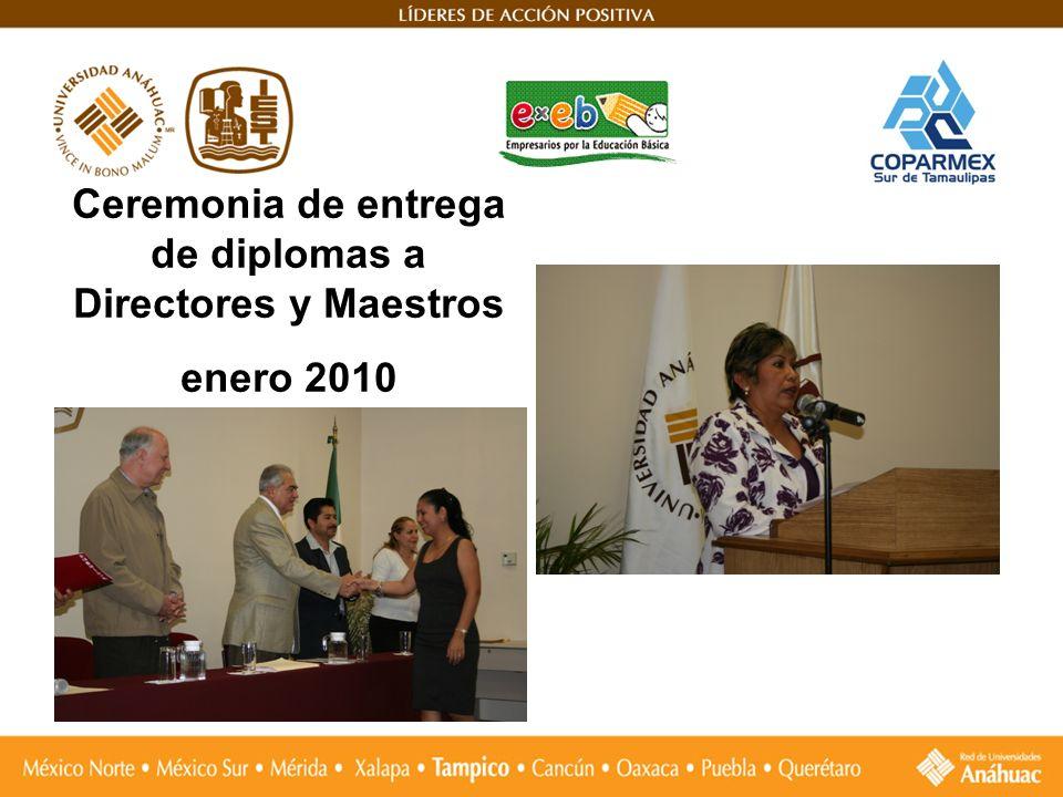 Ceremonia de entrega de diplomas a Directores y Maestros