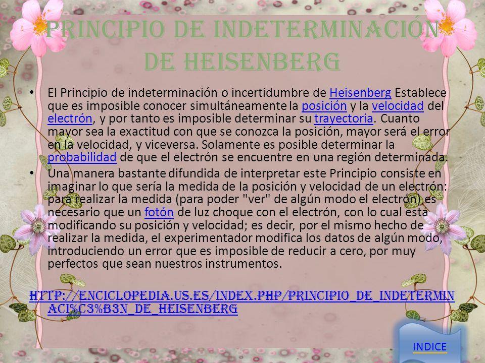 Principio De Indeterminación De Heisenberg
