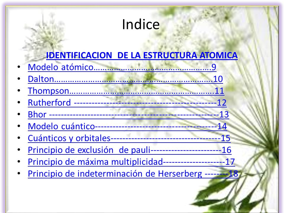 IDENTIFICACION DE LA ESTRUCTURA ATOMICA
