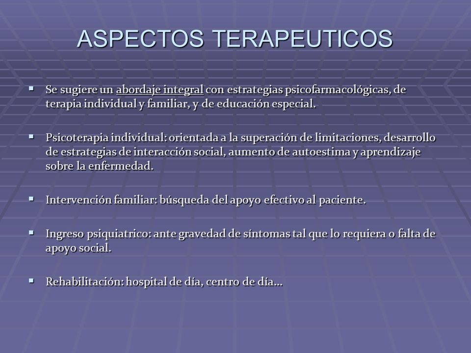 ASPECTOS TERAPEUTICOS