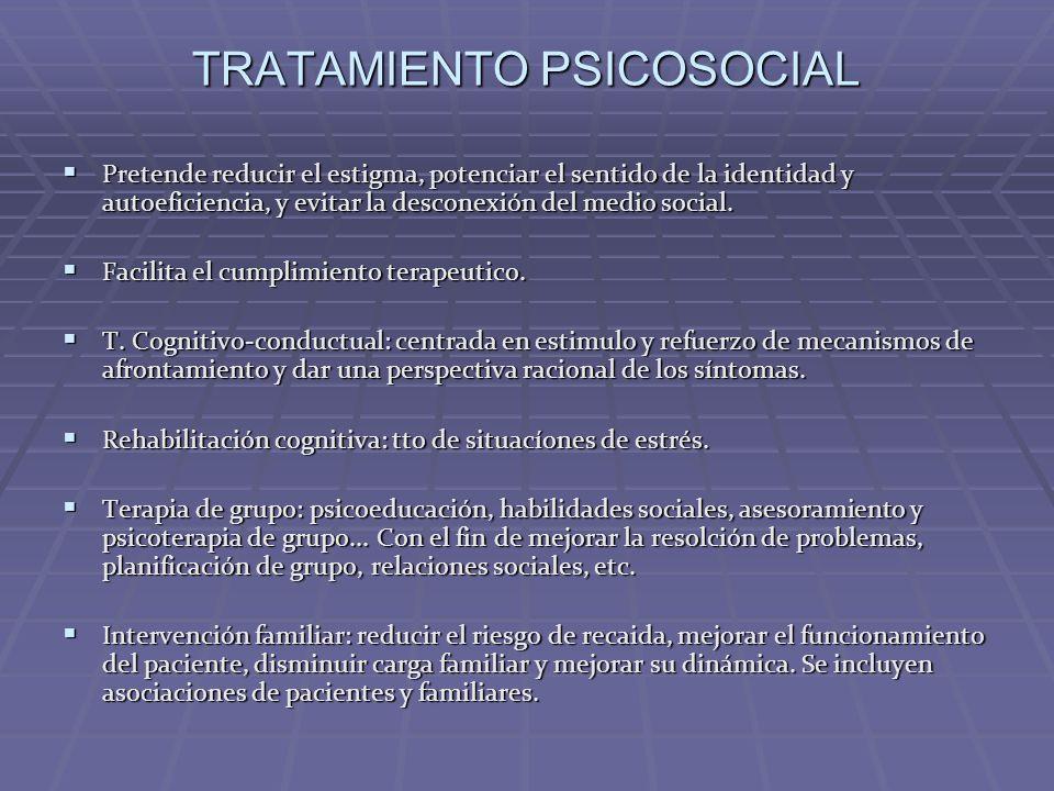 TRATAMIENTO PSICOSOCIAL