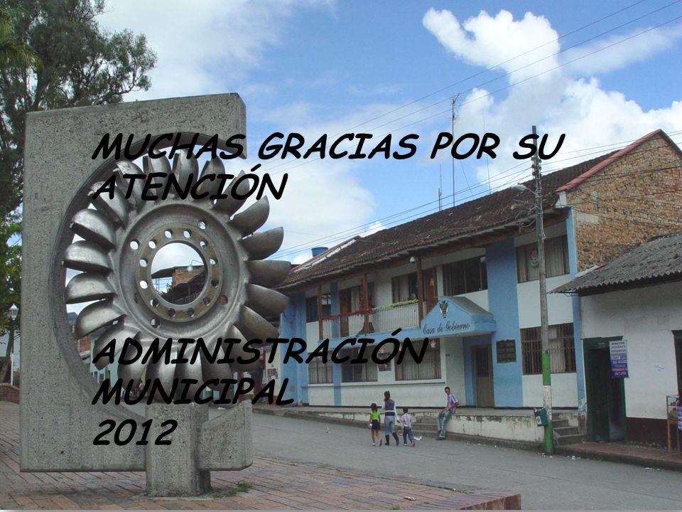 A MUNICIPAL 2012 INFORME DE GESTIÓN MUCHAS GRACIAS POR SU ATENCIÓN