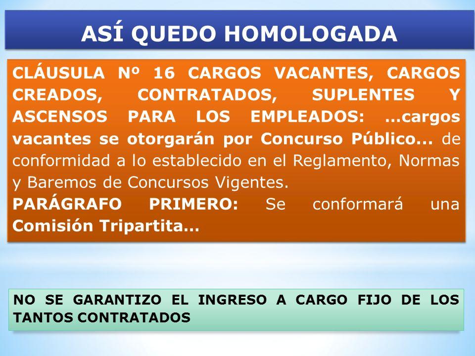 ASÍ QUEDO HOMOLOGADA