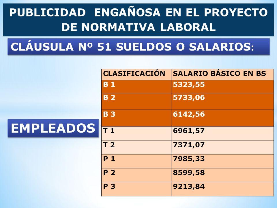 PUBLICIDAD ENGAÑOSA EN EL PROYECTO DE NORMATIVA LABORAL