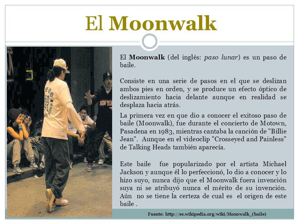El Moonwalk El Moonwalk (del inglés: paso lunar) es un paso de baile.