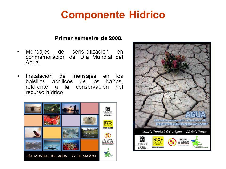Componente Hídrico Primer semestre de 2008.
