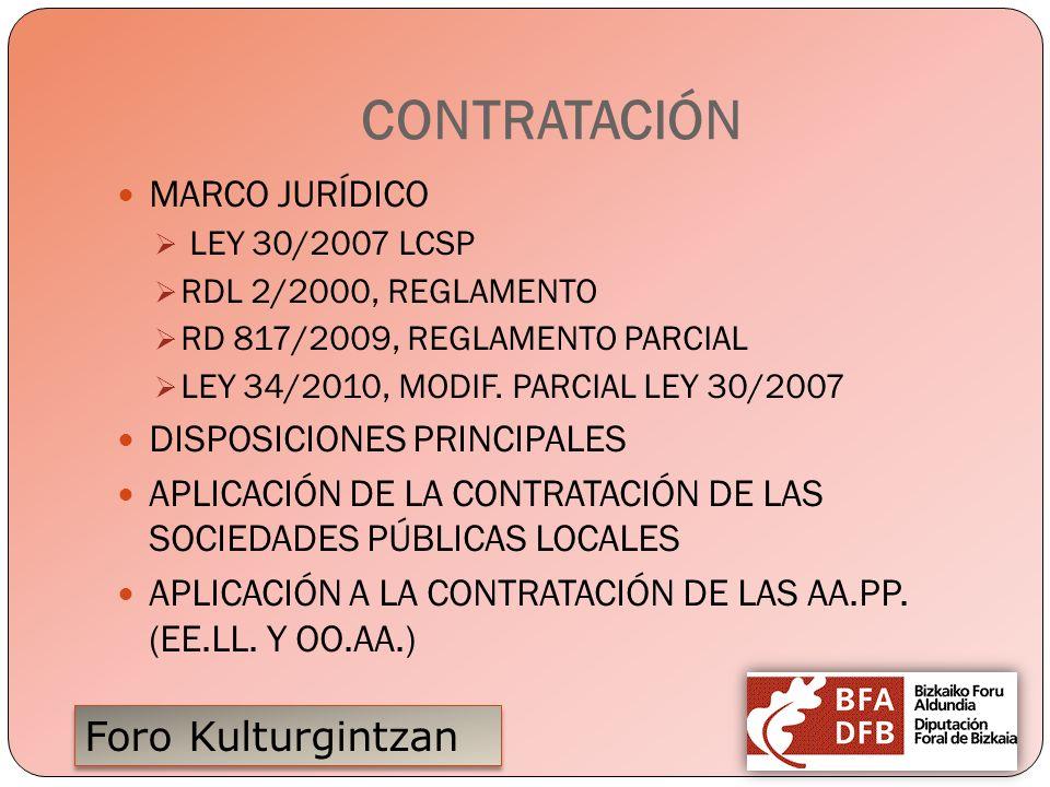 CONTRATACIÓN MARCO JURÍDICO DISPOSICIONES PRINCIPALES
