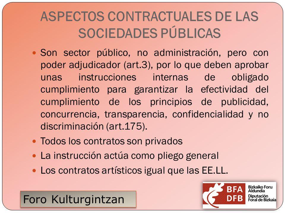 ASPECTOS CONTRACTUALES DE LAS SOCIEDADES PÚBLICAS
