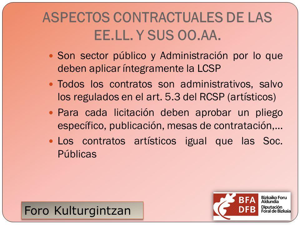ASPECTOS CONTRACTUALES DE LAS EE.LL. Y SUS OO.AA.