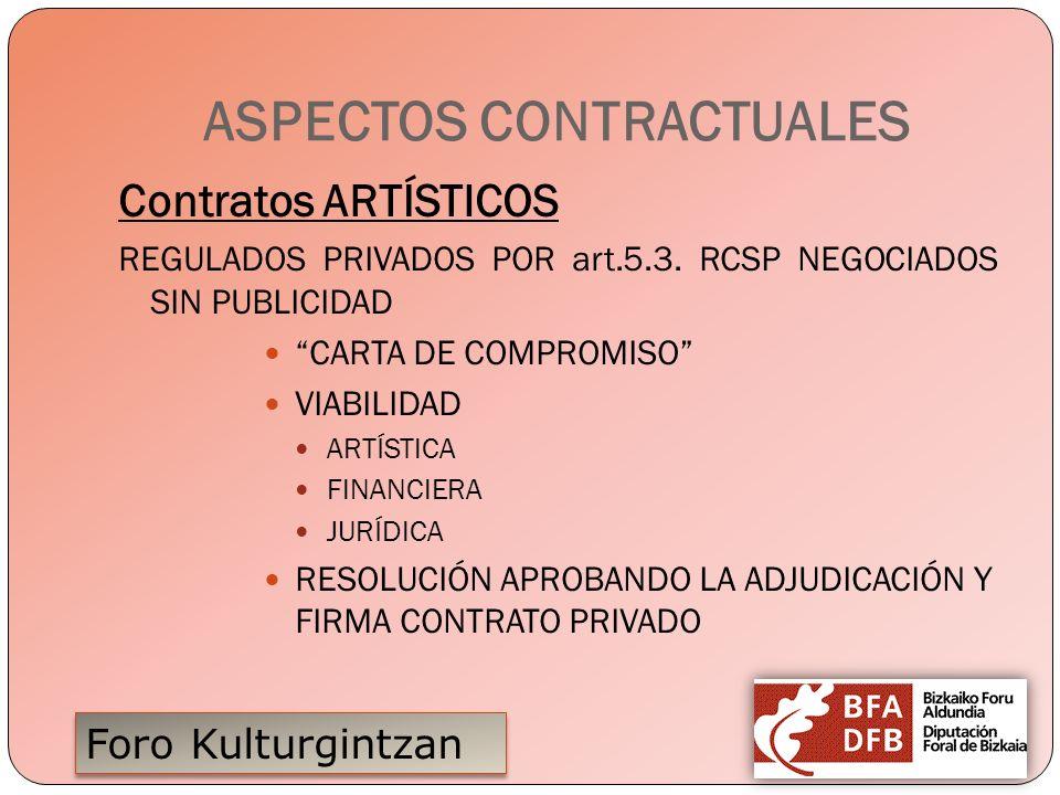 ASPECTOS CONTRACTUALES