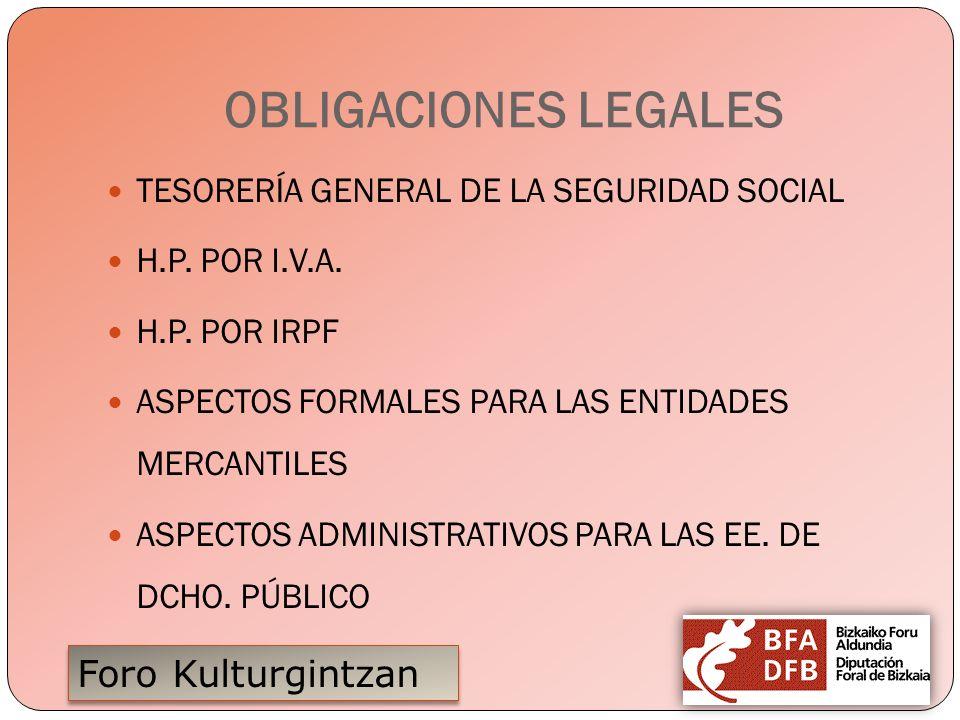 OBLIGACIONES LEGALES TESORERÍA GENERAL DE LA SEGURIDAD SOCIAL