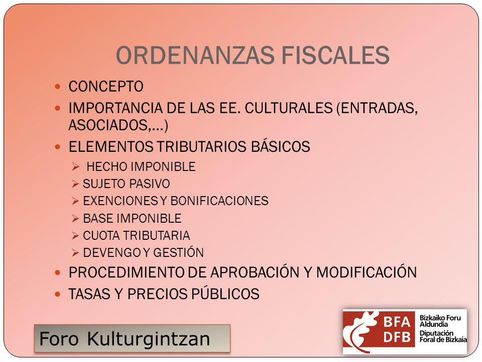 ORDENANZAS FISCALES CONCEPTO