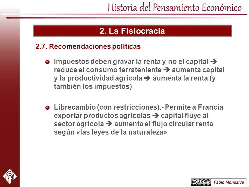 2.7. Recomendaciones políticas