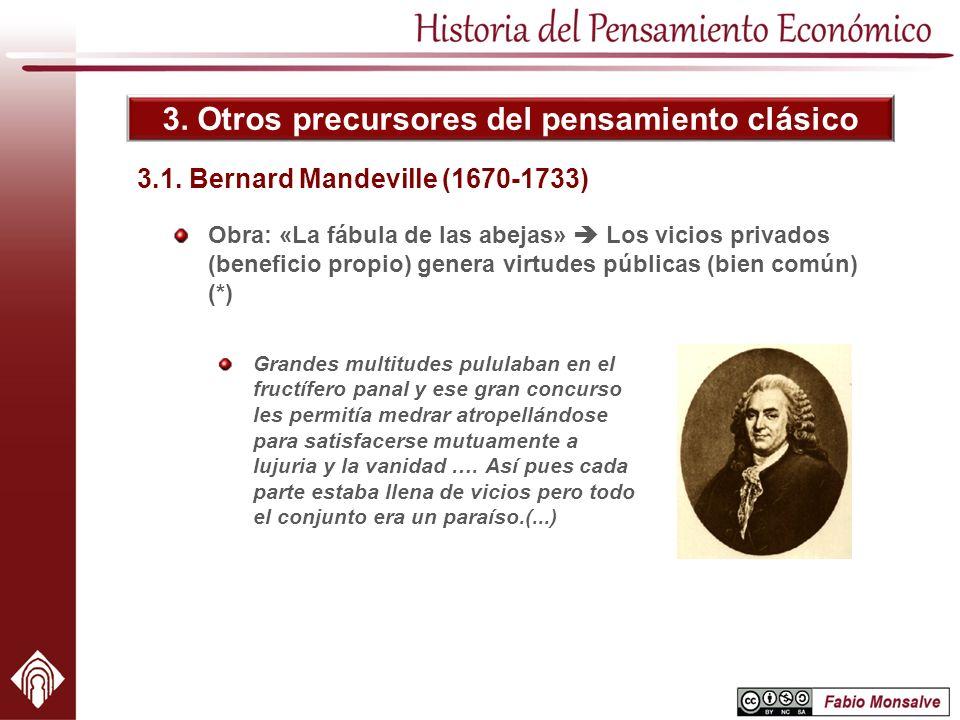3.1. Bernard Mandeville (1670-1733)