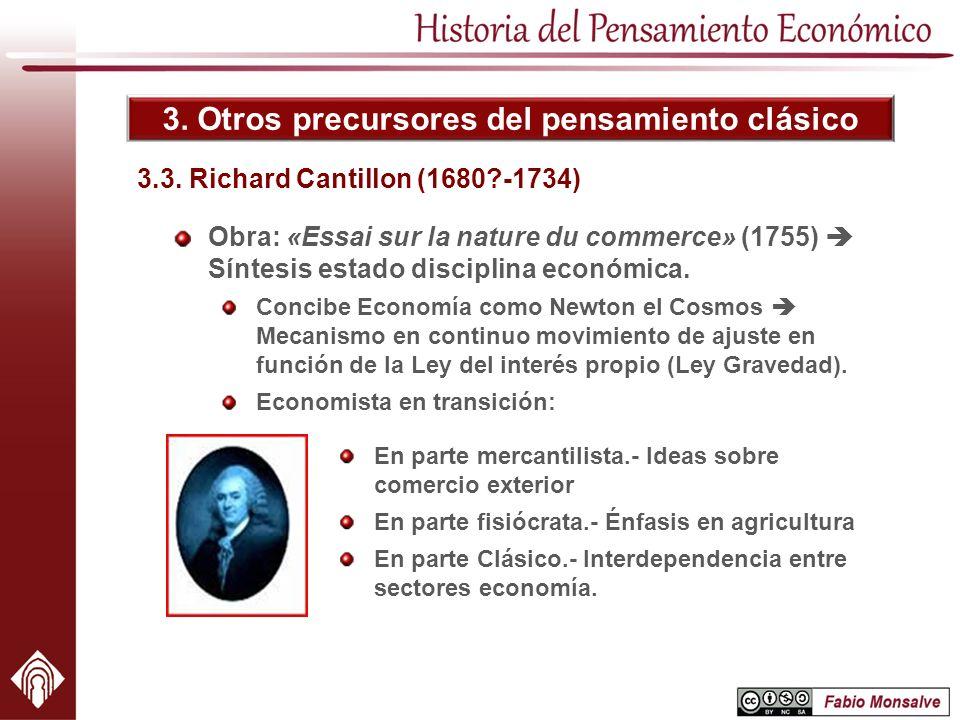 3. Otros precursores del pensamiento clásico